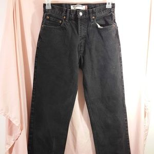 Levi's 550 Black Jeans 28x30 Relaxed fit Red tab
